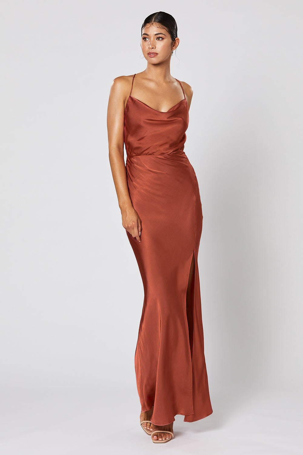 PRE-ORDER: ALMA DRESS COPPER
