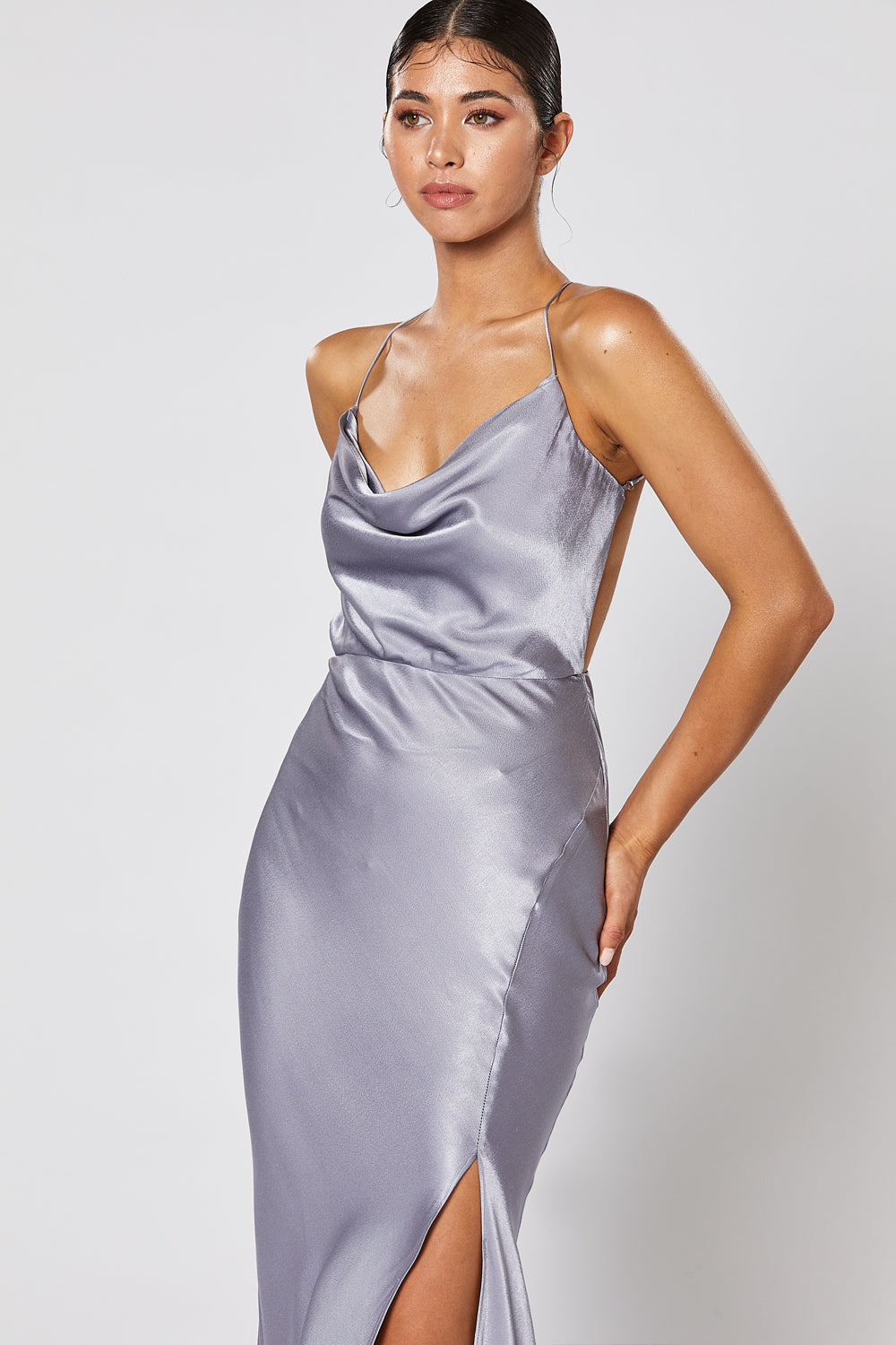 PRE-ORDER: ALMA DRESS STEEL