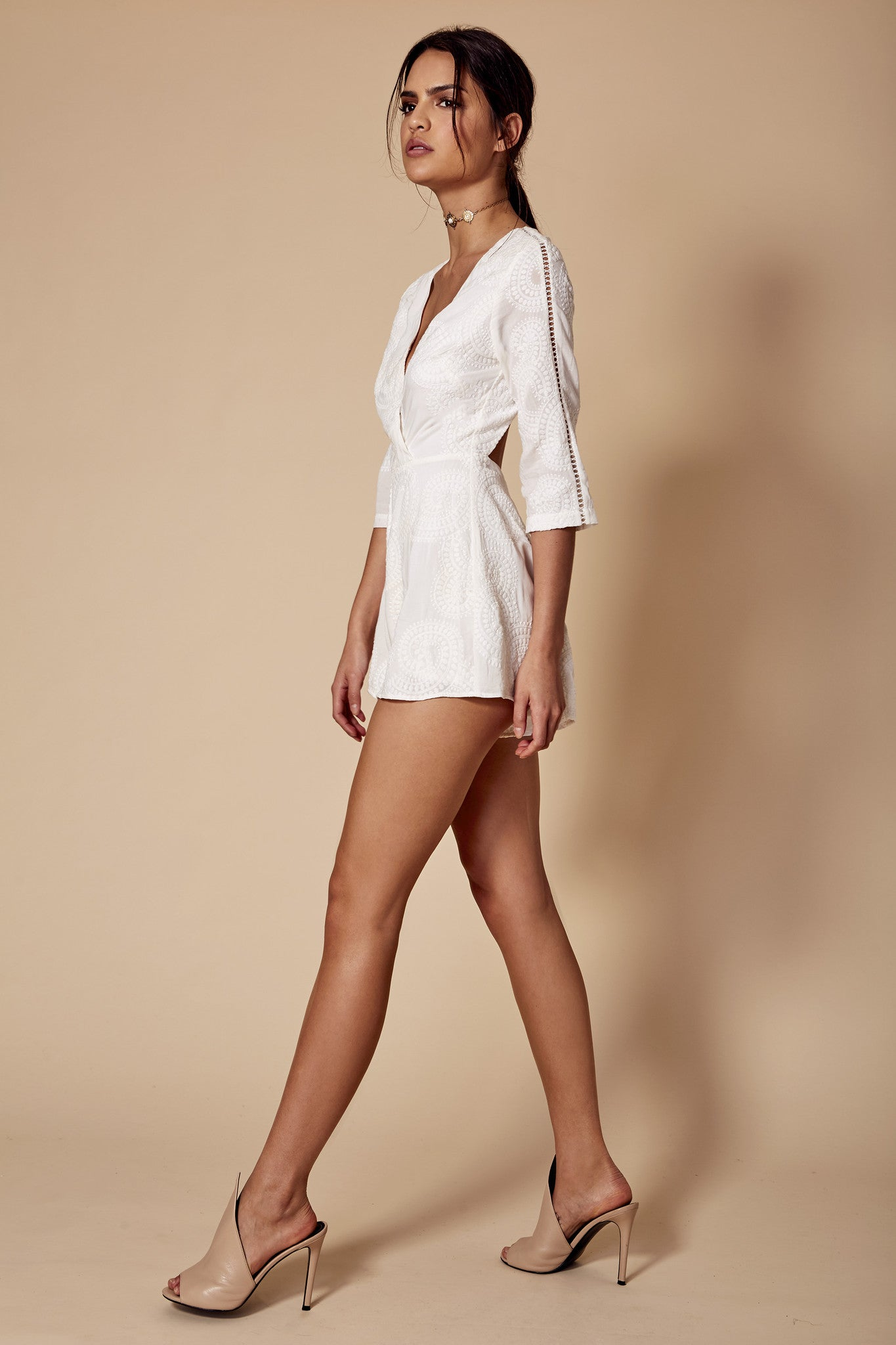 CHLOE PLAYSUIT WHITE