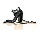 ZIGGY LACE UP HEEL BLACK