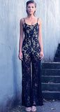 QUEEN OF LACE JUMPSUIT - BLACK