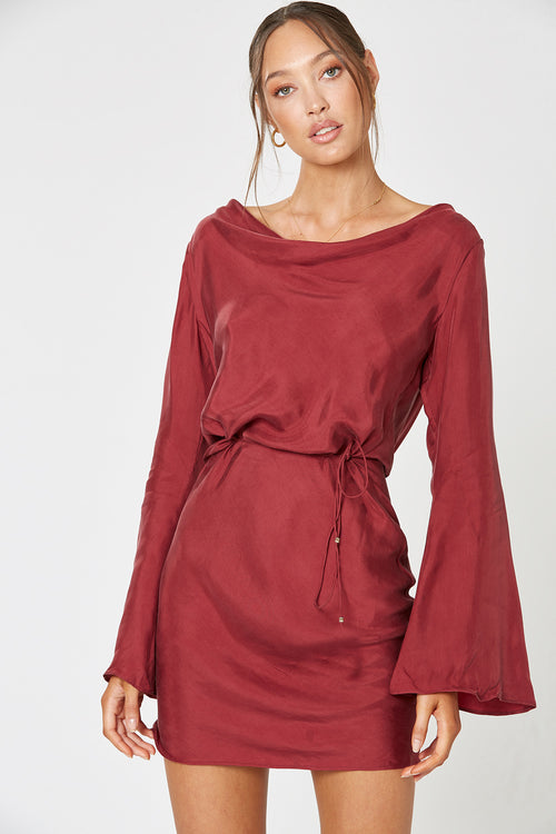 MEZZO BACKLESS DRESS WINE