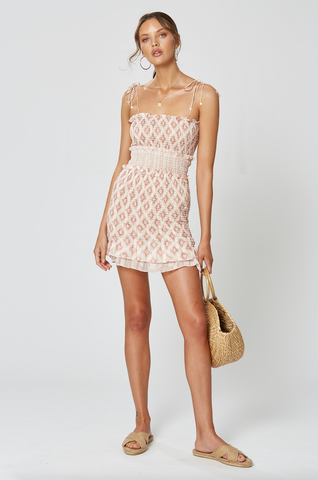 ST GERMAIN SHIRRING DRESS