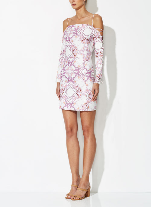 OPHELIA CROSS SHORT DRESS PRINT