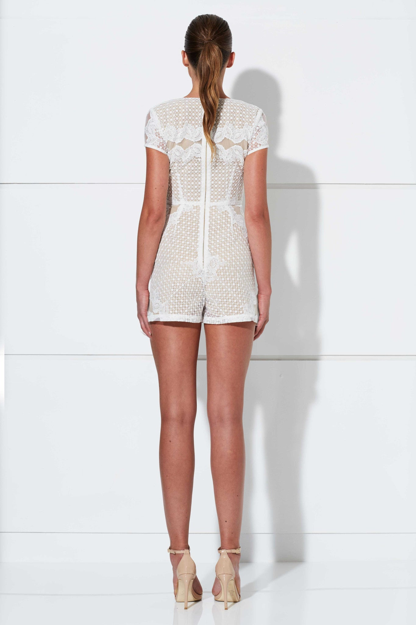 CUPID PLAYSUIT WHITE