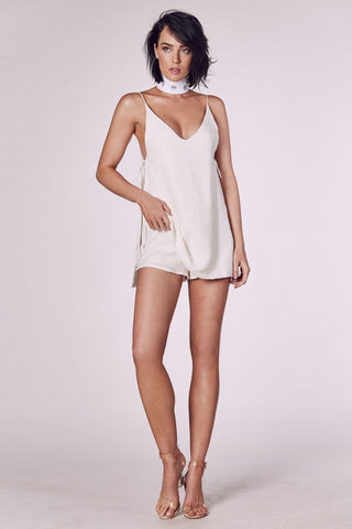 SOCIALITE PLAYSUIT GOLD