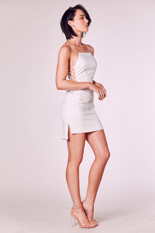 PAPARAZZI DRESS WHITE