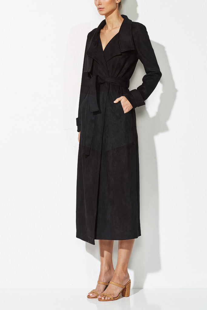 W TRENCH COAT BLACK