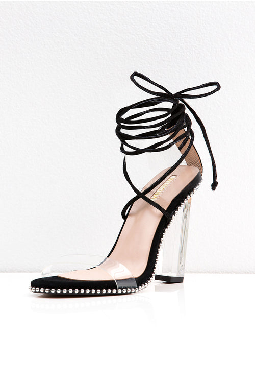 HARLEM LACE UP HEEL BLACK
