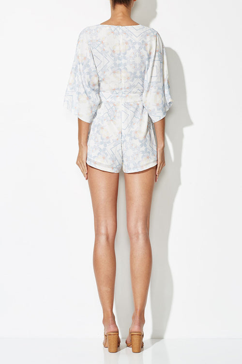 OPHELIA CROSS PLAYSUIT PRINT