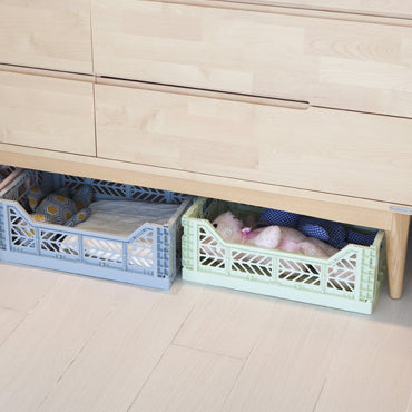 Mini Folding Crate (Baby Blue)