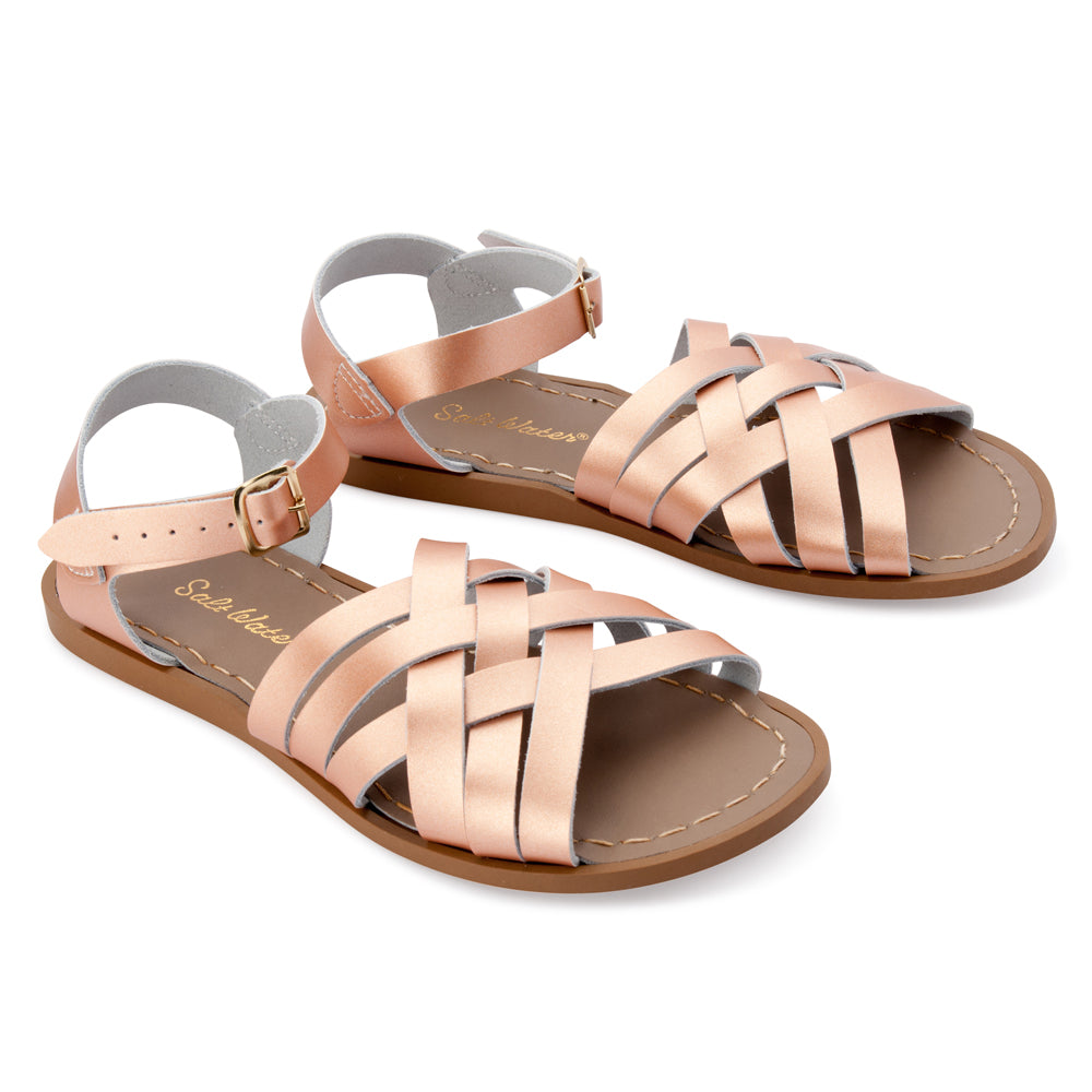 Salt Water Womens Retro Sandals (Rose Gold)