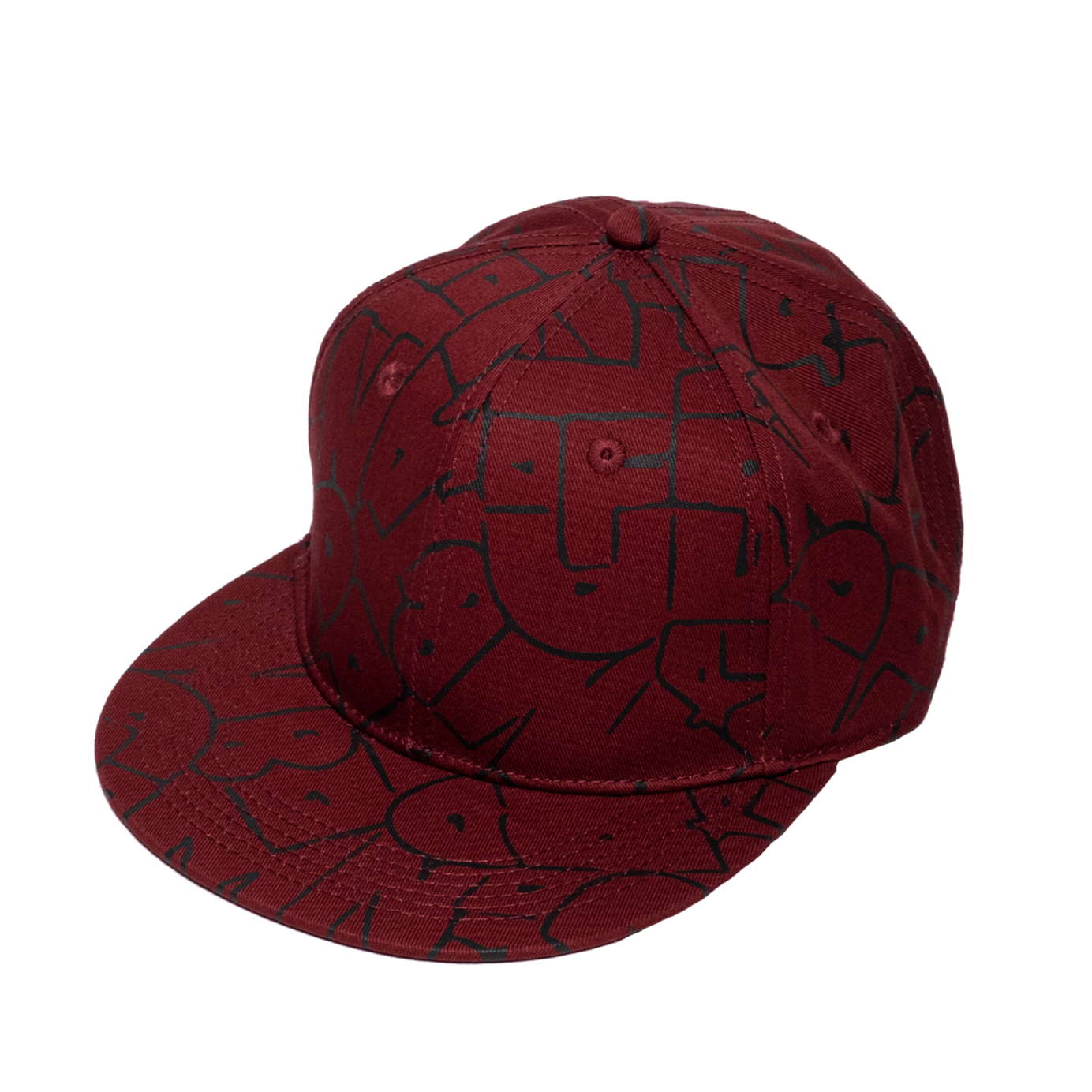 Bubble Logo Hip Hop Cap