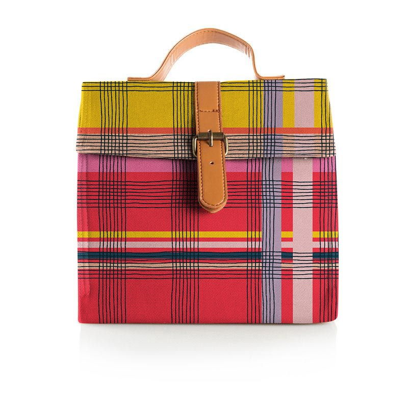 Paint it Plaid Lunch Satchel