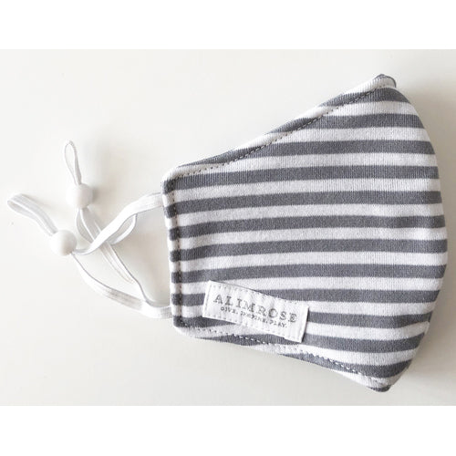 Face Mask (Grey Stripe)