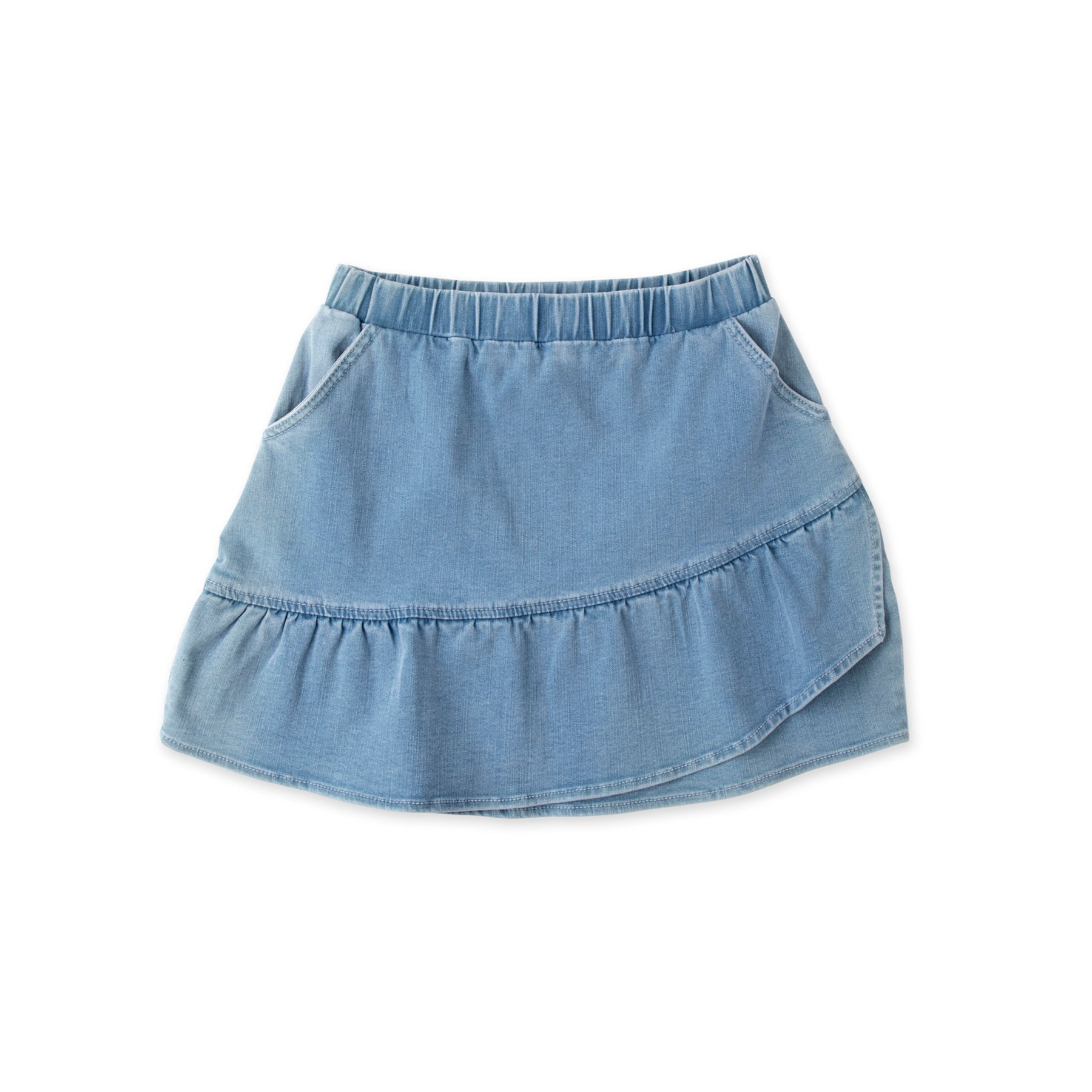 Frilled Denim Skirt