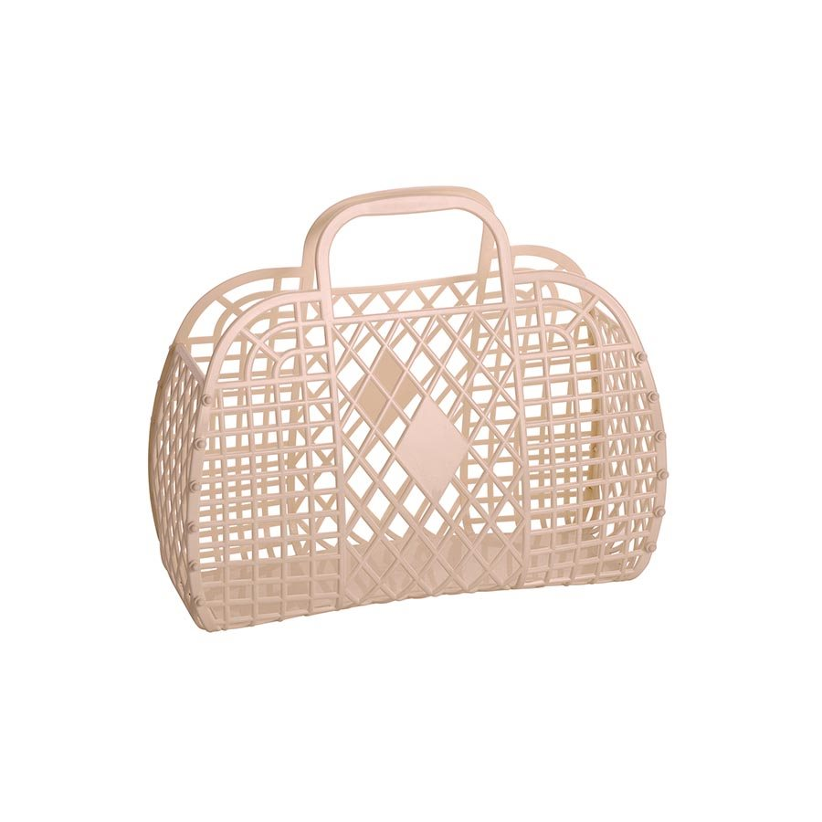 Large Retro Basket (Latte)