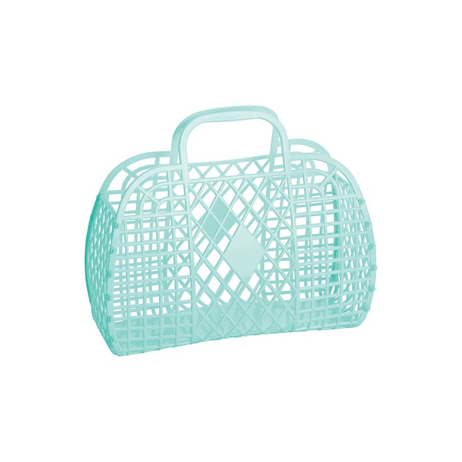 Large Retro Basket (Mint)