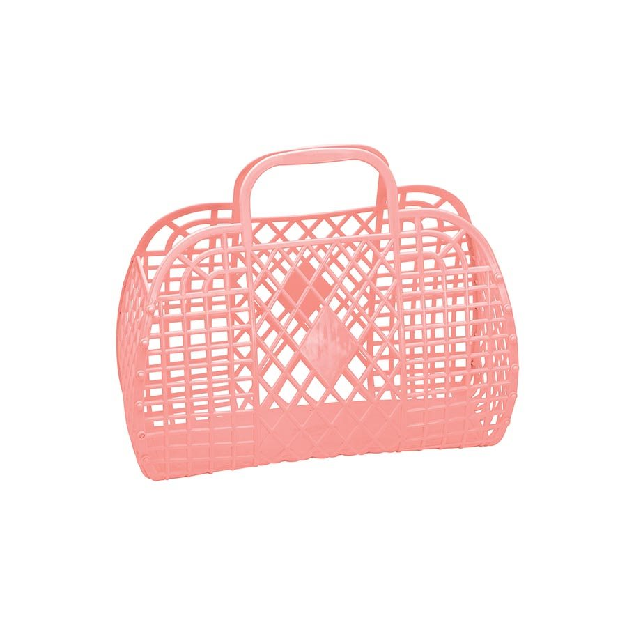 Large Retro Basket (Peach)