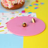 Donut Stud Earrings (Choc)