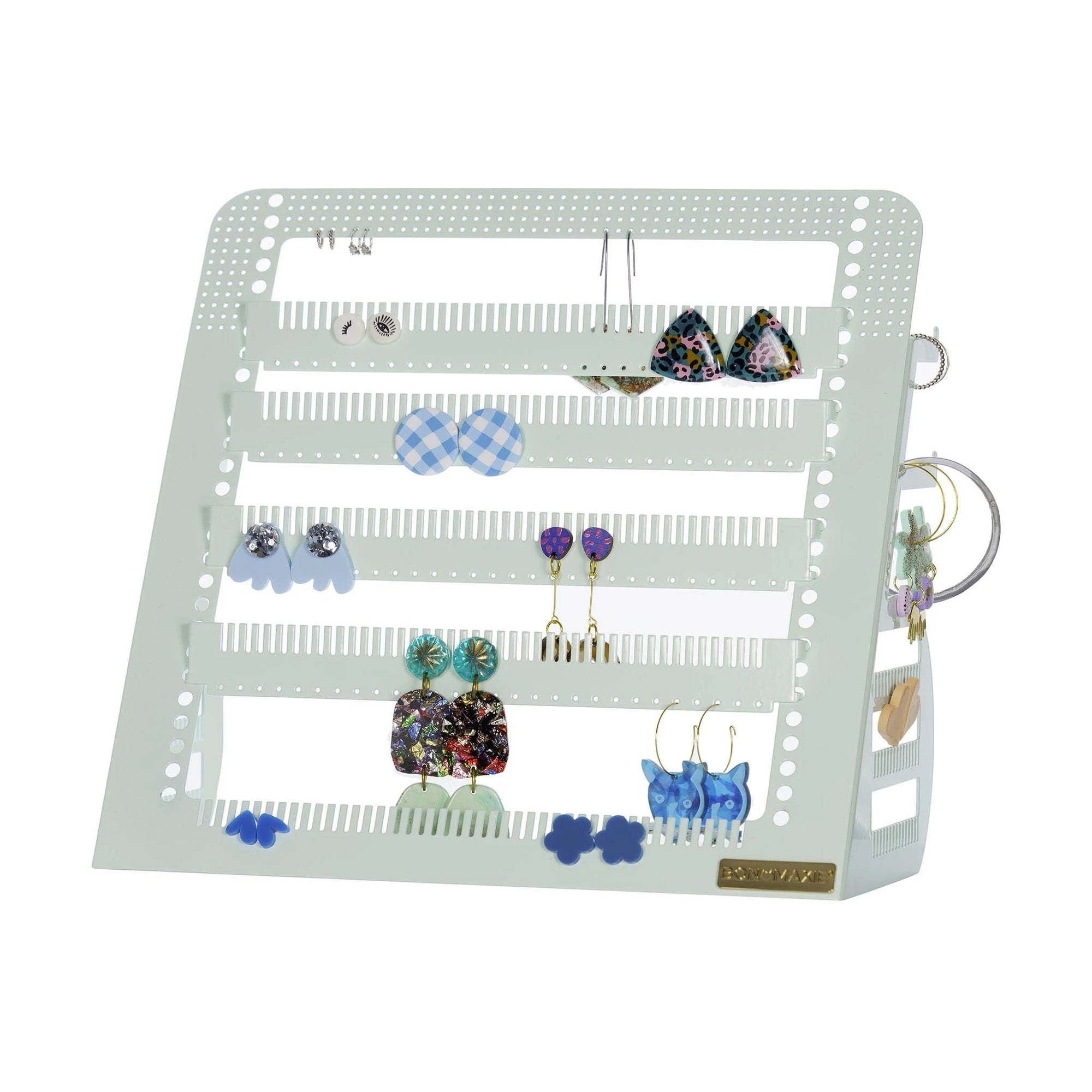 Adjustable Earring & Accessory Holder (Mid Mint)