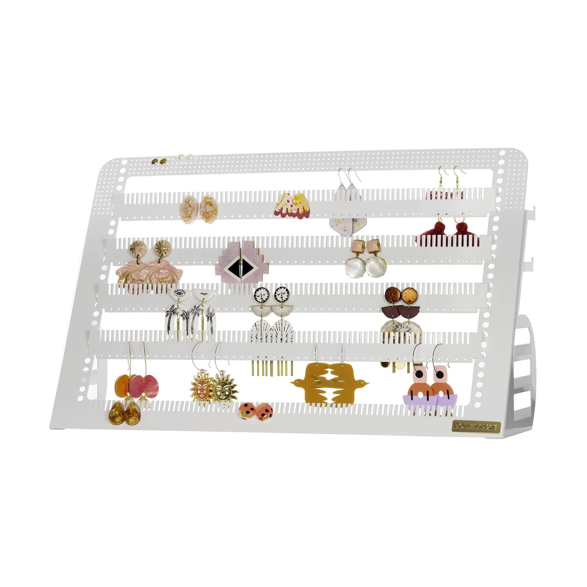 Adjustable Earring & Accessory Holder (Mega White)