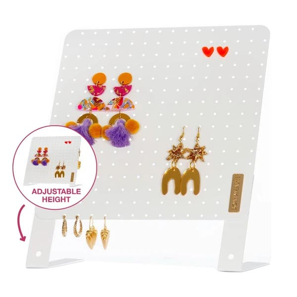 Earring Holder Stand (White)