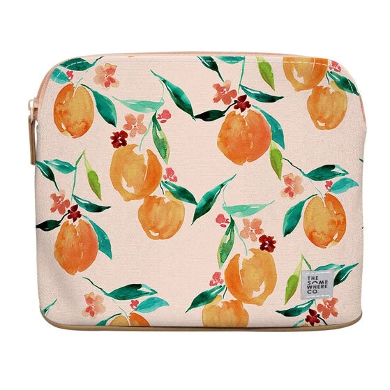 Orange Blossom Large Cosmetic Pouch