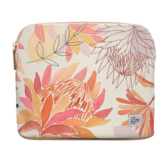 Brushed Protea Large Cosmetic Pouch