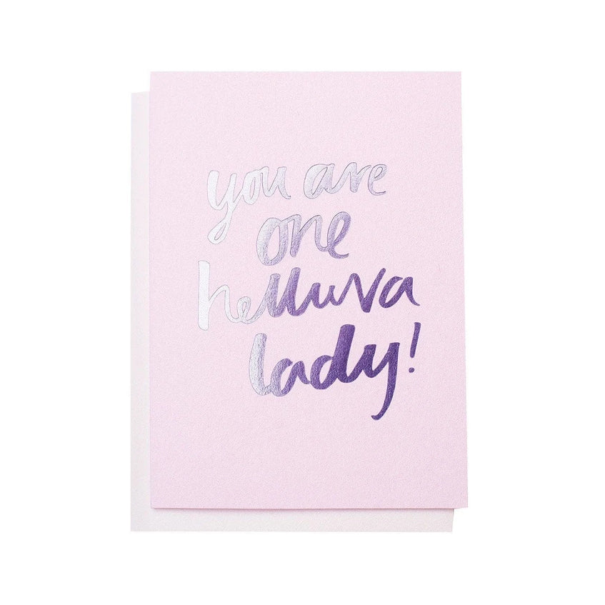 Helluva Lady Greeting Card