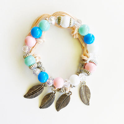 Feather & Bead Bracelet Set