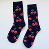 Cherry Socks (Black)
