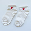 Heart Ankle Socks (Cream)