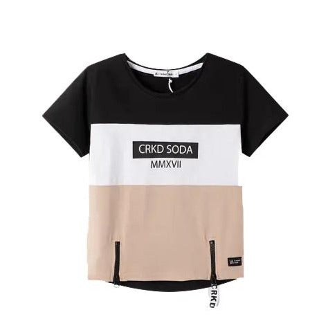 Levi Section Zip Tee