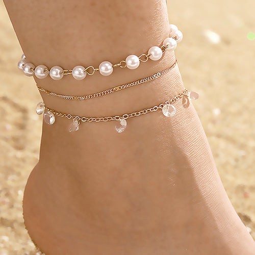 Gem & Jewel Triple Anklet
