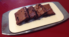 Our gorgeous gooey chocolate brownies