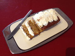 Lovely carrot cake, made with freshly picked carrots