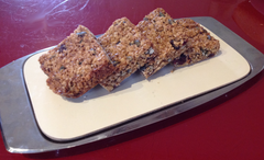 Lovely cranberry and pumpkin seed flapjacks