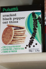 Pulsetta Cracked Black Pepper Oat Thins