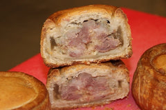 Freshly cooked Stilton Pork Pie from the butchers