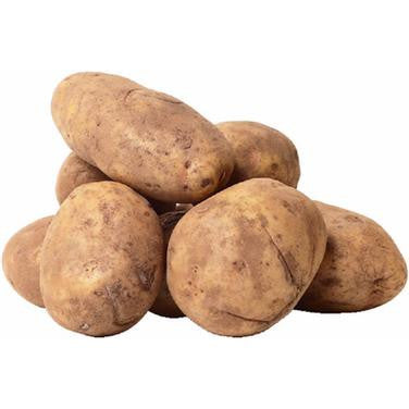 A small bag of fresh local potatoes