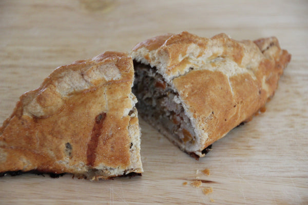 Cornish pasty, fresh from our local butcher
