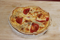 Our traditional quiche, made in the oven at the farm