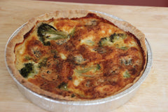 Homemade fresh Broccoli and Stilton Quiche