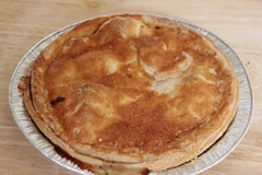 A large chicken pie made with fresh ingredients from our local deli