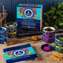 Curry Night Kit - 4 Curry Powders with 8 Quick and Easy Curry Recipes