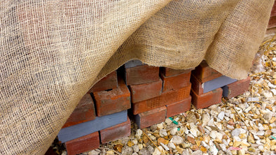 How to use Hessian for Masonry Frost Protection