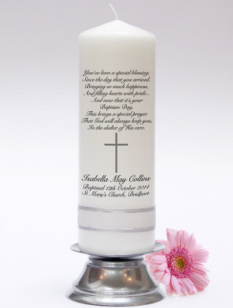 Beautiful Baptism Candles, Christening Candles & Baby Candle Sets. Adorable keepsakes and gifts for family, friends and godparents.