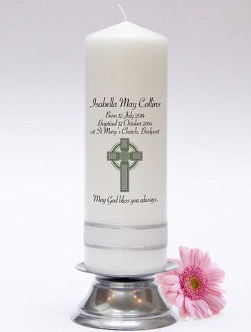 Personalised Baby Candles & Baby Candle Sets. Adorable keepsakes for christening, baptisms and naming days. Made in UK.
