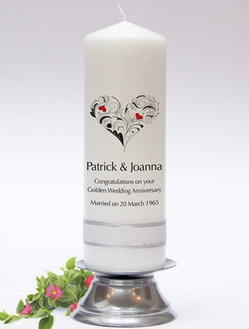 Personalised Celebration Candles & Anniversary Candles. The perfect gift for any special occasion. Handmade in UK.